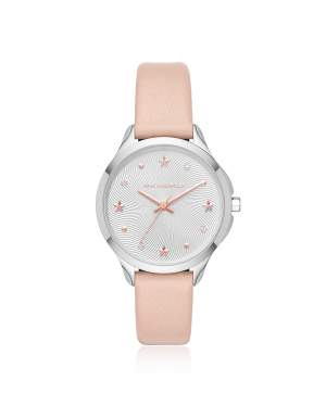 Karoline Stainless-Steel and Pink Leather Watch