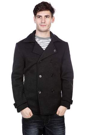 Пальто Enjoi Peacock Pea Coat Black Heather