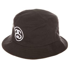 Панама Stussy link Bucket Hat Black