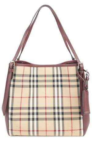Сумка Canter small в клетку Horseferry Check с отделкой из кожи Burberry