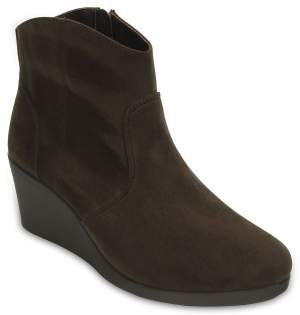 Women's Leigh Synthetic Suede Wedge Bootie